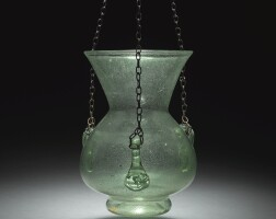 215. an ottoman glass hanging lamp, levantor turkey, 16th/17th century or later