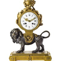 8. a louis xvi style gilt and patinated bronze mantel clock late 19th/early 20th century, the dial signed lieutaud hger. a paris