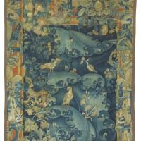 14. tapisserie à feuilles d'aristoloches, travail flamand de la fin du xvie siècle