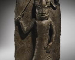 199. plaque en bronze, edo, royaume du benin, nigeria, xvie-xviie siècles |