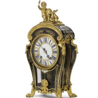 44. a louis xiv ormolu-mounted tortoiseshell and brass-inlaid mantel clock circa 1700,signed thuret, the movement signed thuret a paris