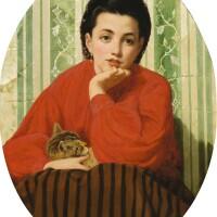 3. odoardo borrani | young girl with a cat