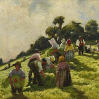 29. lilian davidson, a.r.h.a.   the flax pullers