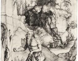 10. albrecht dürer | st. jerome in penitence (bartsch 61; meder, hollstein 57)