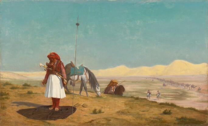 Jean-Léon Gérôme, Prayer in the Desert. Estimate £100,000-150,000