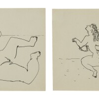70. john graham (1881 - 1961)   untitled (erotic drawings) [two works], 'circa' 1941