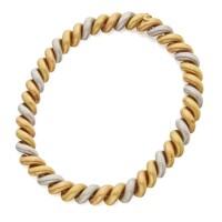13. three-color gold 'san marco' necklace, buccellati