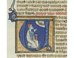 2. two leaves from thirteenth-century bibles, in latin, illuminated manuscripts on vellum