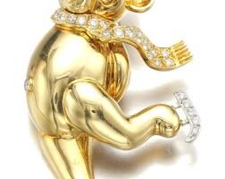 9. gold, ruby and diamondpendant, ralston
