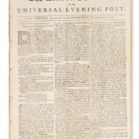 1. an early newspaper account of the dedication of the touro synagogue, printed in the london chronicle, london: january 31-february 2, 1764