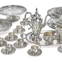 13. a group of american silver florenz pattern table articles, gorham mfg. co., providence, ri, 1925-27 |