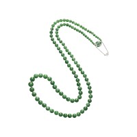 1649. jadeite bead, tsavorite garnet and diamond necklace