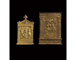 5. deux baisers de paixen bronze doré italie, xvie siècle