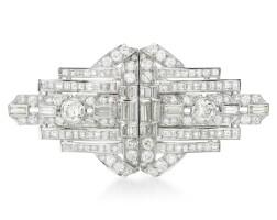 36. diamond double clip brooch, 1930s