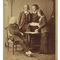 189. liszt, franz. fine cabinet photograph signed with separate dedication to monsieur p. litta by auguste müsch on verso