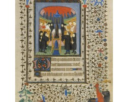 7. a collection of miniatures from illuminated manuscripts on vellum