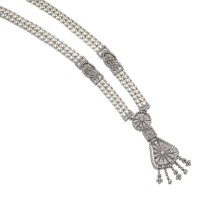 2. seed pearl and diamond necklace, circa 1915