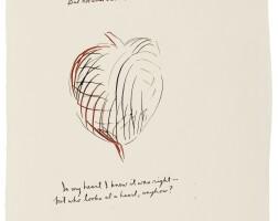 642. raymond pettibon | no title (a headshrink—not...)
