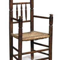 2001. pilgrim century turned poplar spindle-back armchair, massachusetts, circa 1685