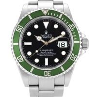 2009. 勞力士 | 16610t型號「kermit」精鋼錬帶腕錶備日期顯示,錶殼編號v944602,約2009年製。