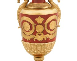 18. a russian porcelain vase, imperial porcelain manufactory, st petersburg, period of alexander iii, marked and dated 1885 |