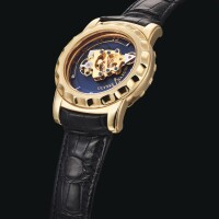 2015. ulysse nardin | yellow gold carrousel tourbillon wristwatch with 60-minute revolving movement, dual escapement and 7-day power reserveref 016-88 no282 freak circa 2003