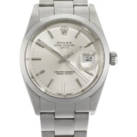 1. rolex | a stainless steel automatic centre seconds wristwatch with date and bracelet ref 15000 case r943664 oyster circa 1987