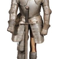 20. a wrought iron armour in the 16th century style, 19th century |