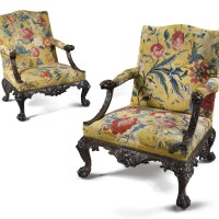 30. a pair of george ii mahogany library armchairs, circa 1740  