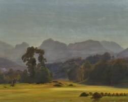 5. johann gottfried steffan | sommerliche gebirgslandschaft, 1863