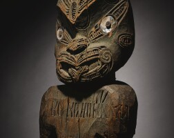 109. maori figure, probably from a palisade post, north island, new zealand