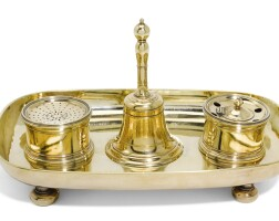 106. royal. a silver-gilt inkstand, maker's mark only of isaac liger of london (grimwade, no. 1931) struck once, circa 1715 |
