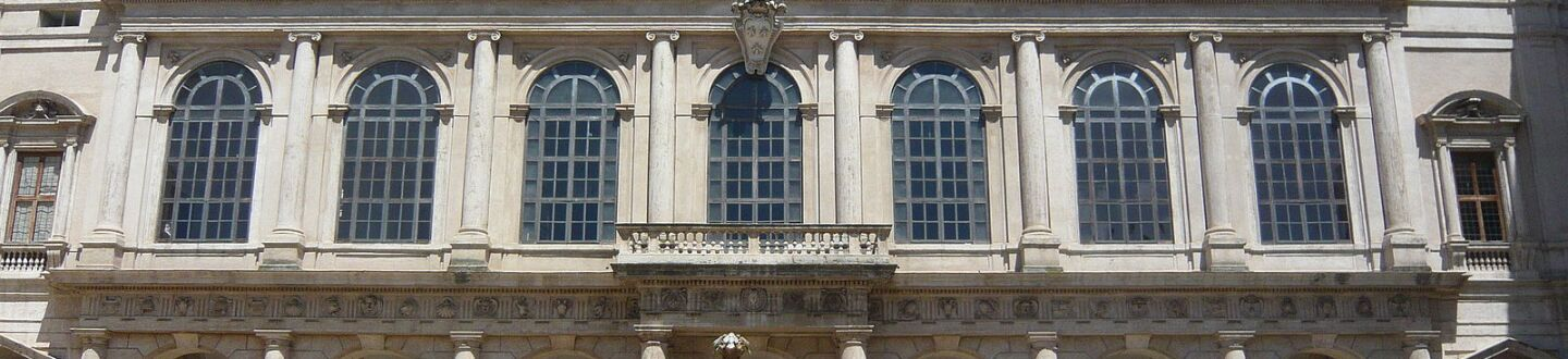 Exterior view of the Barberini Palace branch of the Galleria Nazionale d'Arte Antica.