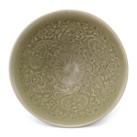 302. a carved yaozhou celadon bowl northern song dynasty  