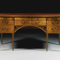 336. a george iii inlaid serpentine mahogany sideboard circa 1775