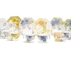 518. an assembled set of six rozenburg octagonal cups and saucers 1904-13