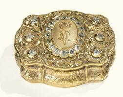 23. a jewelled gold imperial presentation box, probably hanau, circa 1865