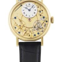 215. 寶璣(breguet) | 7027型號「la tradition」黃金半鏤空腕錶備動力儲存顯示,年份約2005。