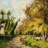46. carlo fornara   cows on a path