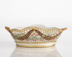 13. a russian porcelain basket from the service for the imperial order of st. george, gardner porcelain manufactory, verbilki, 1777-1778