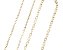 9. two gold 't' necklaces, tiffany & co.