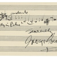 """180. gershwin, george. autograph musical quotation from """"rhapsody in blue"""""""
