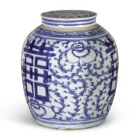 15. a chinese blue and white jar and cover |