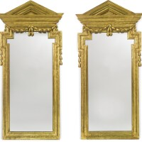 50. a pair of spanish neoclassical giltwood mirrors late 18th century