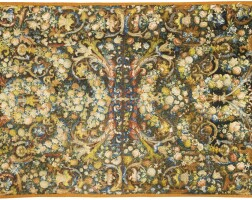 8. a wool 'au petit point' embroidery table carpet, circa 1660-1670, probably a french workshop |