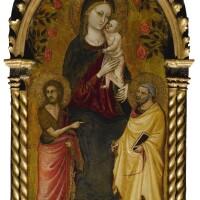 109. bicci di lorenzo | madonnaand child with saints john the baptist and peter