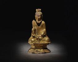 209. 唐 銅鎏金老君坐像 |