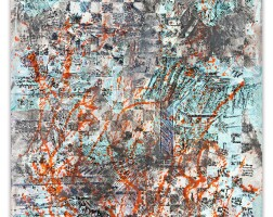 133. françois rouan | mappe cendre verte