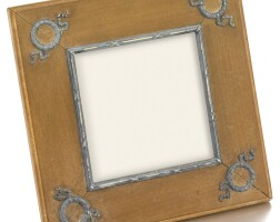 444. a fabergé silver-mounted wood frame, workmaster feodor afanassiev, st petersburg, 1908-1917