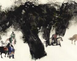 6. 彭先誠,《騎獵圖之五》 二〇〇三年作